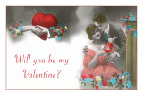 Will You Be My Valentine, Couple Opening Box Prints