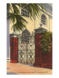 Gateway to St. Michael's Church, Charleston, South Carolina Prints