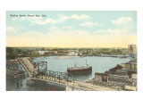 Harbor Scene, Green Bay, Wisconsin Prints