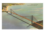 Aerial View, Golden Gate Bridge, San Francisco, California Prints