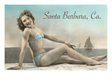 Bathing Beauty, Santa Barbara, California Prints