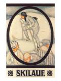 German Skiing Poster Posters