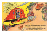 Travel Trailer Cartoon Prints