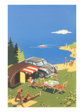 Picnic by the Lake Posters
