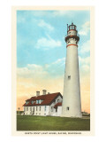 North Point Lighthouse, Racine, Wisconsin Print