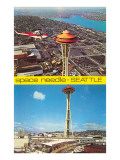 Views of Space Needle, Seattle, Washington Prints