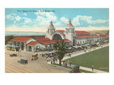 Train Depot, San Diego, California Prints