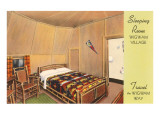 Sleeping Room in Wigwam Village Motel Poster