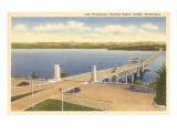 Lake Washington Floating Bridge, Seattle, Washington Prints