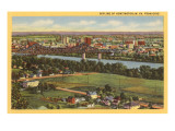 Skyline of Huntington, West Virginia Prints