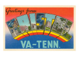 Greetings from Bristol, Virginia, Tennessee Posters