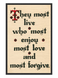 Enjoy, Love, Forgive Posters