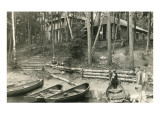Cabins in the Woods, Boats Print