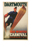 Skier, Dartmouth Winter Carnival Affiches