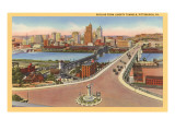 Skyline, Bridges, Pittsburgh, Pennsylvania Kunst