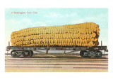 Giant Corn Cob on Flatbed, Washington Prints