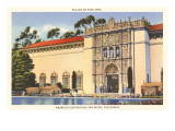 Palace of Fine Arts, Balboa Park, San Diego, California Affiches
