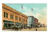 Street Scene, Santa Barbara, California Print