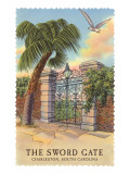 The Sword Gate, Charleston, South Carolina Posters