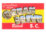 Greetings from Ocean Drive Beach, South Carolina Prints