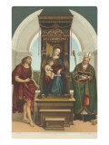 Madonna of the Ansidei by Raphael, London Prints