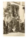 Fiesta Days, Women Singing, Santa Barbara, California Prints