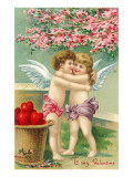 To My Valentine, Cupids Hugging Prints