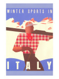 Winter Sports in Italy, Graphics Prints