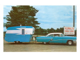 Car Towing Small Alumalite Trailer Prints