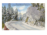 Winter, Skyline Drive, Great Smoky Mountains Posters