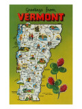 Map of Vermont Print