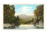 Camel's Hump, Winooski River, Vermont Prints