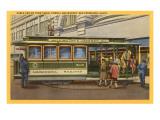Drahtseil-Straßenbahn an Drehscheibe, San Francisco, Kalifornien Poster