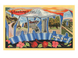 Greetings from Yakima, Washington Posters