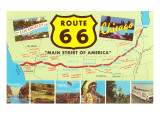 Map of Route 66 Prints