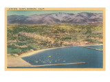 Overview of Santa Barbara, California Posters