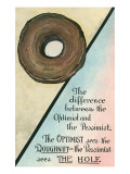 Difference between Optimist and Pessimist Posters