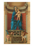 Madonna and Child in Alcove by Bellini, Venice Posters