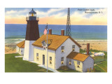 Pt. Judith Lighthouse, Narragansett, Rhode Island Prints