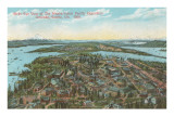 Overview of 1909 Exposition, Seattle, Washington Prints