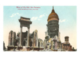 Ruins of City Hall, 1906, San Francisco, California Prints