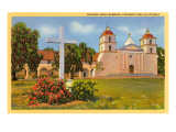 Mission, Santa Barbara, California Poster