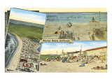 Views of Mission Beach, San Diego, California Prints