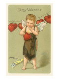 To My Valentine, Vintage Cupid Prints