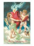 To My Valentine, Cupids Repairing Heart Print