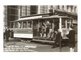 Cable Car on Turn Table, San Francisco, California Prints