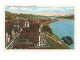 Ohio River at Wheeling, West Virginia Prints
