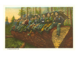 Loggers on Felled Tree, Washington Posters