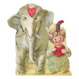 To My Valentine, Genie and Elephant Giclee Print