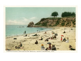 Beach Scene, Santa Barbara, California Posters